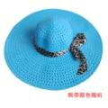 EAS Лето Изысканный Leopard Bowknot Ленты Оформлен Ажурные Вс Hat Для Женщин