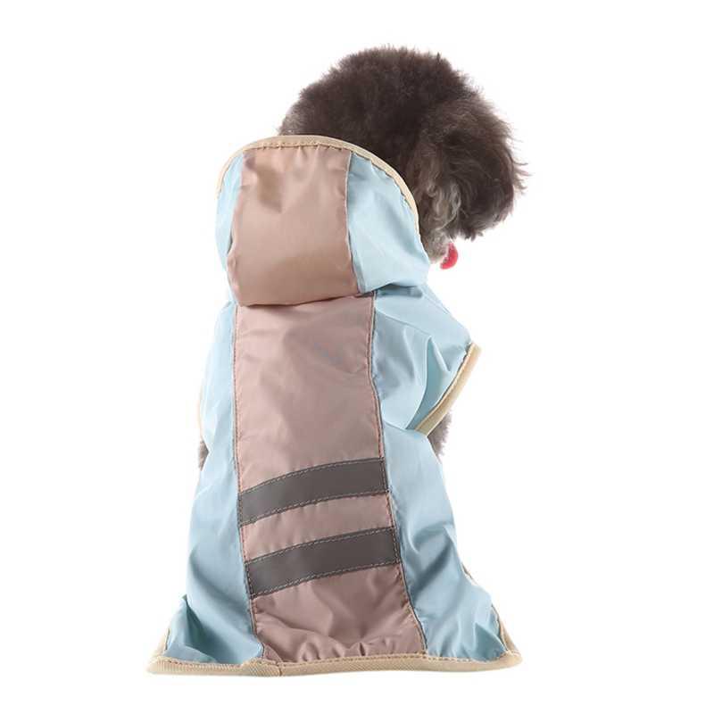 Летние для питомцев на прогулке плащ для щенков дождевые пальто S-XL Толстовка Водонепроницаемый куртки дождевик для собак Одежда для кошек одежда