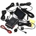 LED Display Solar Wireless Car Parking Sensors 4 Black Parking Sensors Reverse Backup Radar Buzzer Alarm System Kit