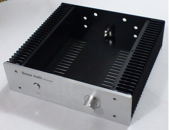 3209 Full Aluminum Enclosure / Class A AMP case/ Power amplifier box/chassis 4308 rounded chassis full aluminum enclosure power amplifier box preamplifier chassis