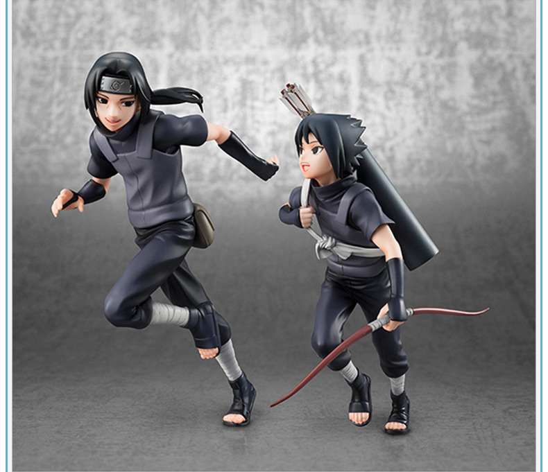 2pcs/set 18cm Naruto Uchiha Sasuke Uchiha itachi action figure PVC toys collection doll anime cartoon model for friend gift 18cm naruto shippuden uchiha obito anime action figure pvc collection model toys for christmas gift free shipping