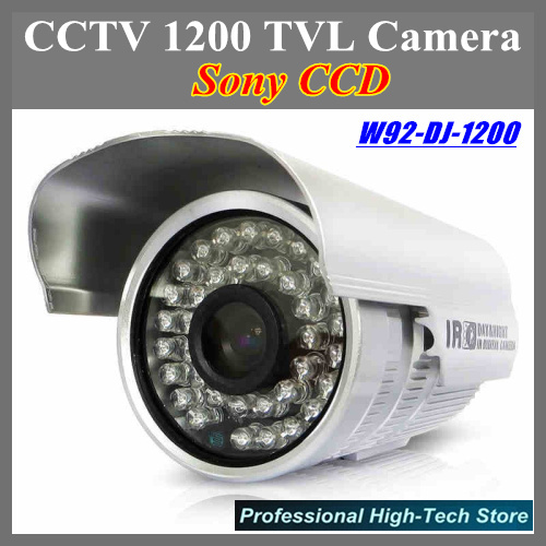 Best quality CCTV 1200 TVL Security Camera Sony CCD Special offer W92-DJ-1200 with 36 Leds IR 25 meters CCTV System with bracket ir 92 2016 rxdz