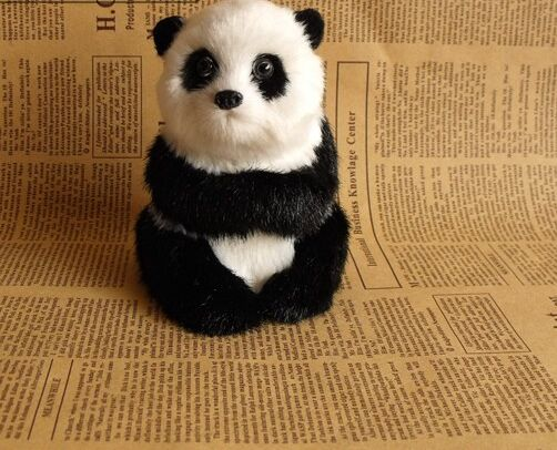 simulation panda model 10x11cm toy ,polyethylene resin handicraft, home decoration gift <font><b>a2507</b></font> image