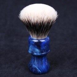 24MM Yaqi misterioso espacio Color abanico con mango forma dos bandas tejón pelo nudo hombres brochas de afeitar