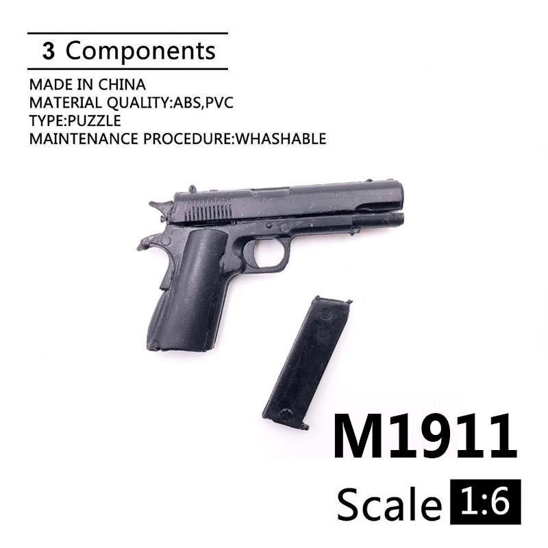 1:6 M1911 A1 Gun Model For 12