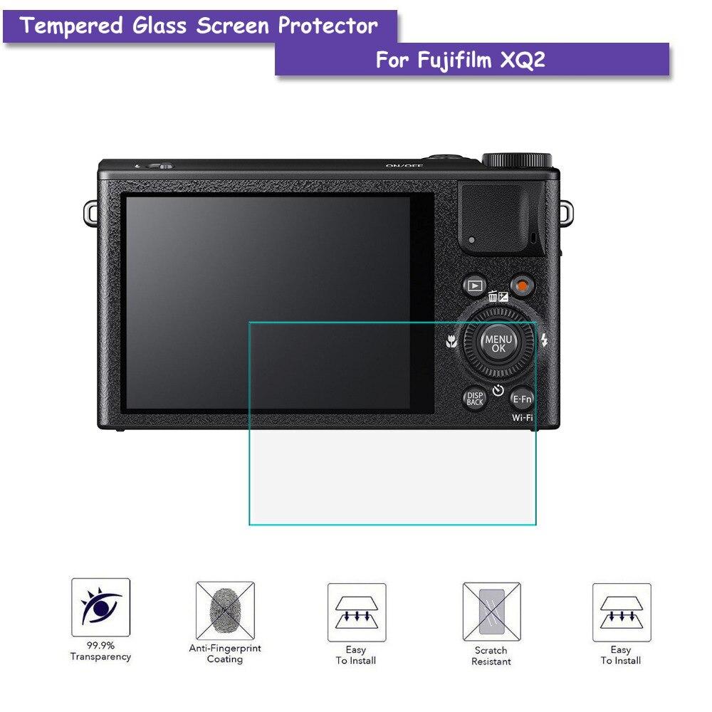 9H Tempered Glass LCD Screen Protector Shield Film for Fujifilm FUJI XQ2 Camera Accessories