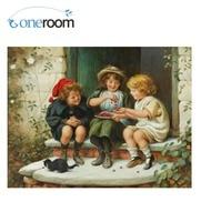 3th 59-45 İğne Meslekler 14CT baskısız Nakış Kalite Sayılan Çapraz Dikiş Kiti Set Yağlıboya Bir Kase kiraz sanatlar