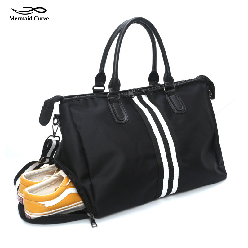 Shoes Storage Sports Bag Big SizeTraining Gym Bag  Woman Fitness Bags Waterproof Nylon Cloth Handbag Outdoor Sport Tote Women