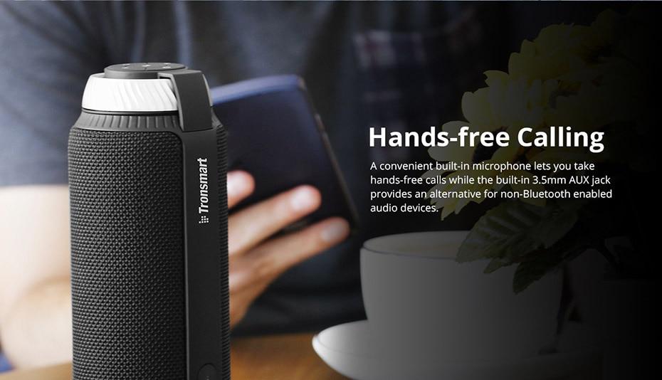 Tronsmart Element T6 Bluetooth 4.1 Altavoz portátil Receptor de audio de barra de sonido inalámbrica Mini altavoces USB AUX para música MP3 Player6