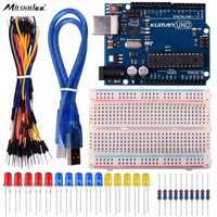 Miroad Basic Starter Kits For Arduino Robot Projects And Beginner Learner With UNO R3 Breadboard LED