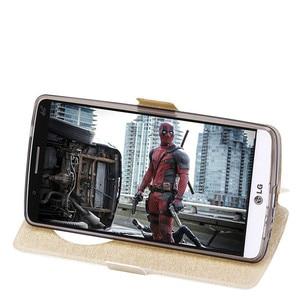 Image 4 - شاهد نافذة الجلود حقيبة لجهاز LG G3 G4 لينة غطاء حقيبة غطاء الوجه الفاخرة ل LG G3 D855 D850/G4 H818 H815 F500 غطاء الهاتف Funda