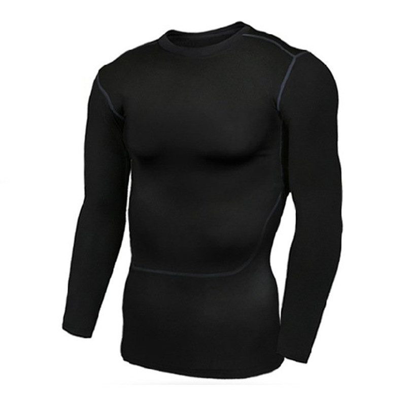 Fitness Men Long Sleeve Basketball Running Sports T Shirt Men Thermal Muscle Bodybuilding Gym Compression Tights Shirts