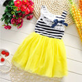 Toddler Girl's children's Clothing Brand Lace Stripe Dress for kids Clothes fashion Princess Party Sleeveless tutu Dresses dress