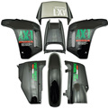 ABS Plastic Fairing Cowl Bodywork Kit Set for Honda NX250 AX-1 Sports Traverse Black New