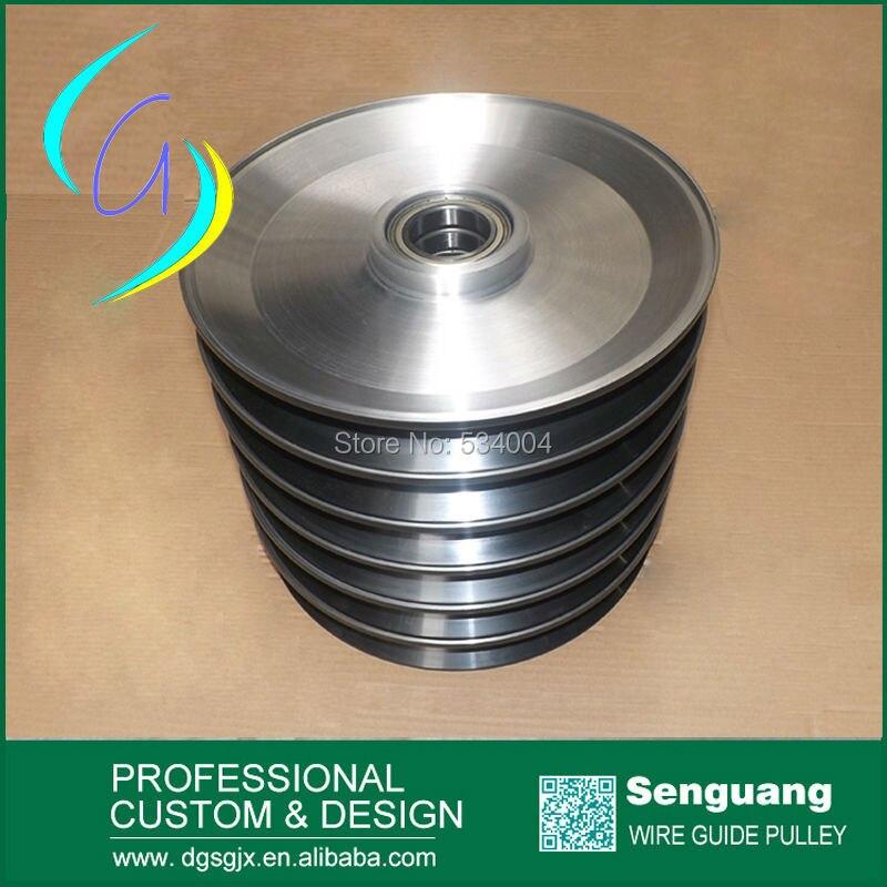 aluminium idler pulley  with ceramics coating