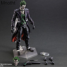 Play Art PA Kai Batman Series Action Figure Arkham Asylum The Joker Movable PVC Action Figure 26cm with Hand and Head Exchange
