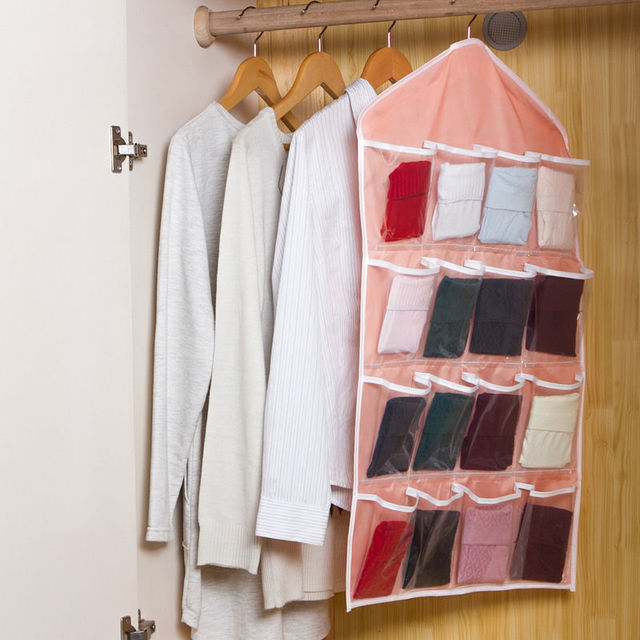 Hanger Storage Organizers 16 Pockets Clear Shoe Rack Family Must Up Over Door Hanging Bag Hot Sale