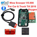 2016 Top Rated Wow Snooper Bluetooth Car Truck Diagnostic Tool Software V5.008 R2 With Keygen TCS CDP VCI 5.00.8 Free Activation