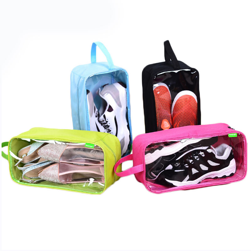 DINIWELL Polyester Shoes Bag Pouch Storage Travel Bag Portable Shoes Organizer Sorting Pouch Zip Lock Home Outdoor Storage Box