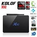 X92 Gigabit Ethernet Android 6.0 TV Box Kodi S912 Amlogic Quad Core Wifi 2.4G y 5.0G BT 4.0 2G/16G 1000 M 4 K H.265 Reproductor Multimedia