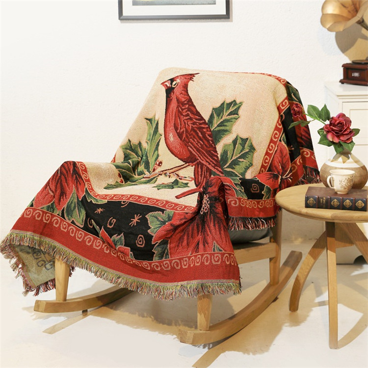 2 Side Print Star Fringed Blanket Tapestry Sofa Cover Bed ArmChair Throw Cover