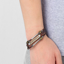 New Vintage Punk Leather Bracelets Where There S A Will Is Way Letter Courage Bracelet Bangles Gift P3