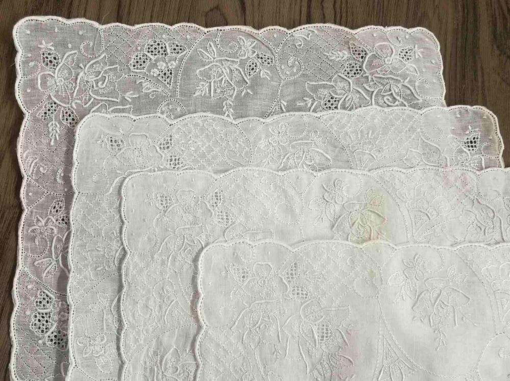 4PCS Novelty Women's Handkerchiefs 11.5x11.5