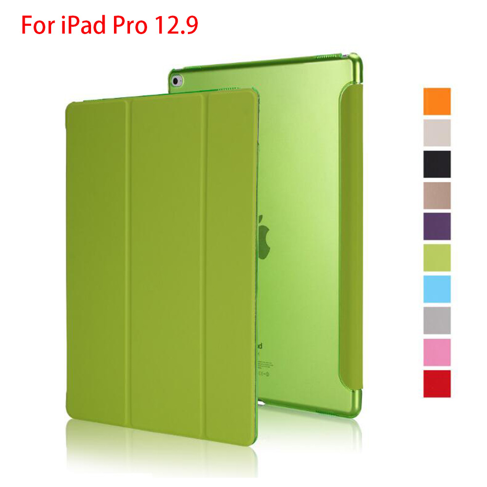 Rygou Case For IPad Pro 12.9 2015 Release, PU Leather Tri-fold Stand Smart Cover Auto Wake UP Sleep For IPad Pro 12.9 Case 2017