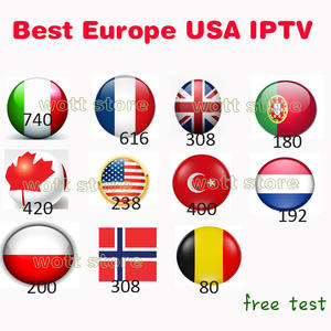 IPTV Subscription Albania Poland Arabic Brazil Italian 7000-Channels French Latino Russia