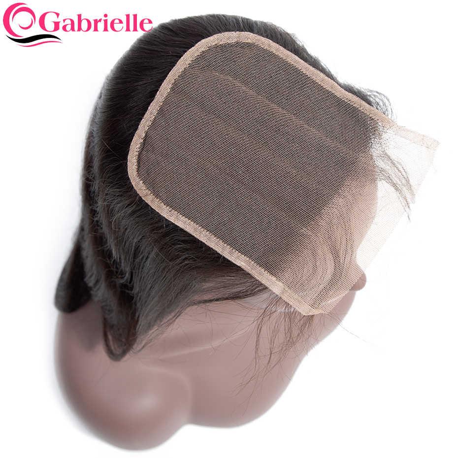 Gabrielle remy hair 5x5, бразильские человеческие волосы с закрытием, натуральные синтетические волосы 8-22 дюймов