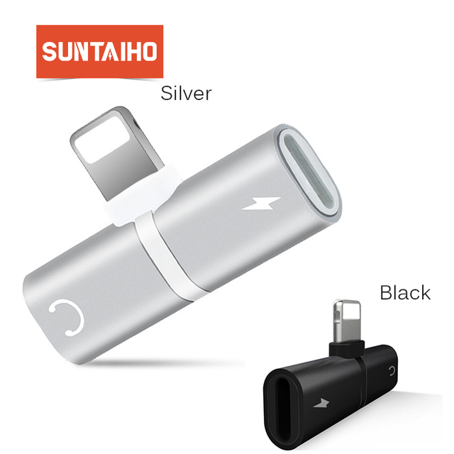 Suntaiho Lightnig Adapter Compatible iOS 10.33&iOS11 headphone adapter for iphone 7 / X Converter Audio Charger Adapter 8 plus