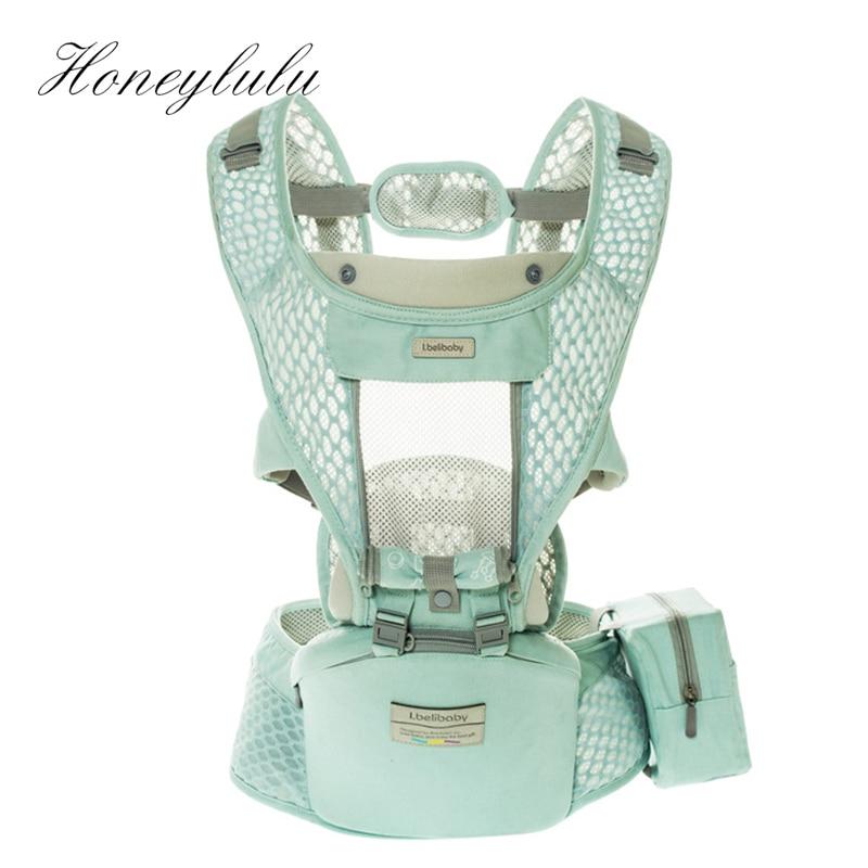 Honeylulu Summer Breathable 3 In 1 Baby Carrier Sling For Newborns Kangaroo For Baby Ergoryukzak Hipsit Seat Detachable Backpack
