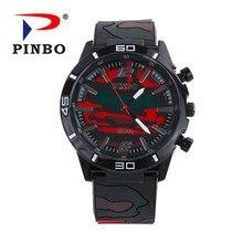 2018 Hot Zegarki Meskie Outdoor Sports Watch Men Military Camouflage Quartz Wristwatch Casual Leather Watches Relogio Masculino