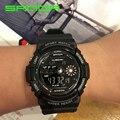 2017 new sanda estilo marca de luxo homem de entretenimento digital watch moda sports relógios led relógios de pulso relogio masculino 320