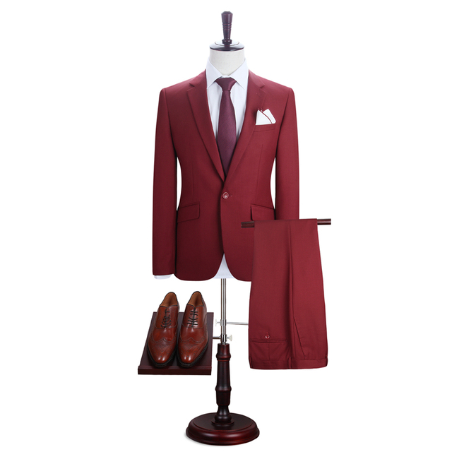 DARO 2019 Men Suits Blazer With Pants Slim Fit Casual One Button Jacket for Wedding DARO8158