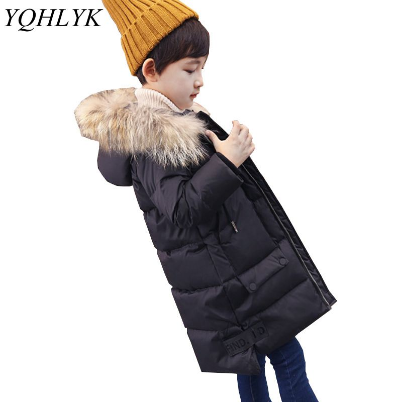 Boy Winter Coat 2017 New Fashion Boy Down Jacket Thick Warm Parka Children Clothes Outerwear Hooded Casual Kids Clothing W61 girl duck down jacket winter children coat hooded parkas thick warm windproof clothes kids clothing long model outerwear