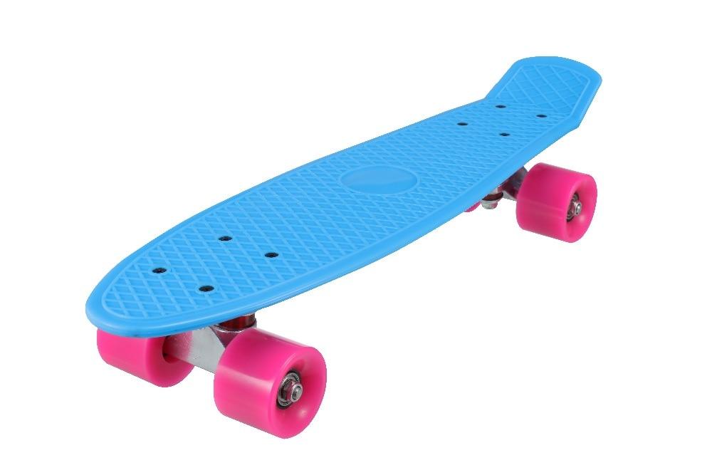 Nuevo 5 colores Pastel cuatro ruedas 22 pulgadas Mini Cruiser Skateboard Street Long Skate Board deportes al aire libre para adultos o niños - 3