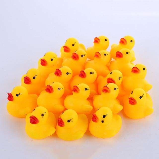 Rubber Duck Shaped Bath Toys 10 pcs Set