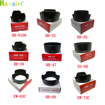 цена на For HB-N106 HB-32 HB-35 HB-39 HB-47 HB-69 ES-68 EW-63C EW-73C camera Lens Hood for nikon/canon lens camera with package box