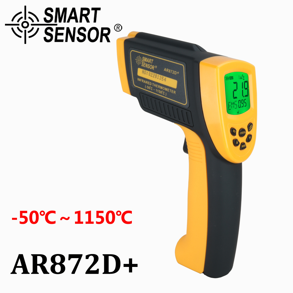SMART SENSOR AR872D Non-Contact Digital Laser Infrared Thermometer Temperature Gun Instant-Read -50~1150C/-58~2102FSMART SENSOR AR872D Non-Contact Digital Laser Infrared Thermometer Temperature Gun Instant-Read -50~1150C/-58~2102F