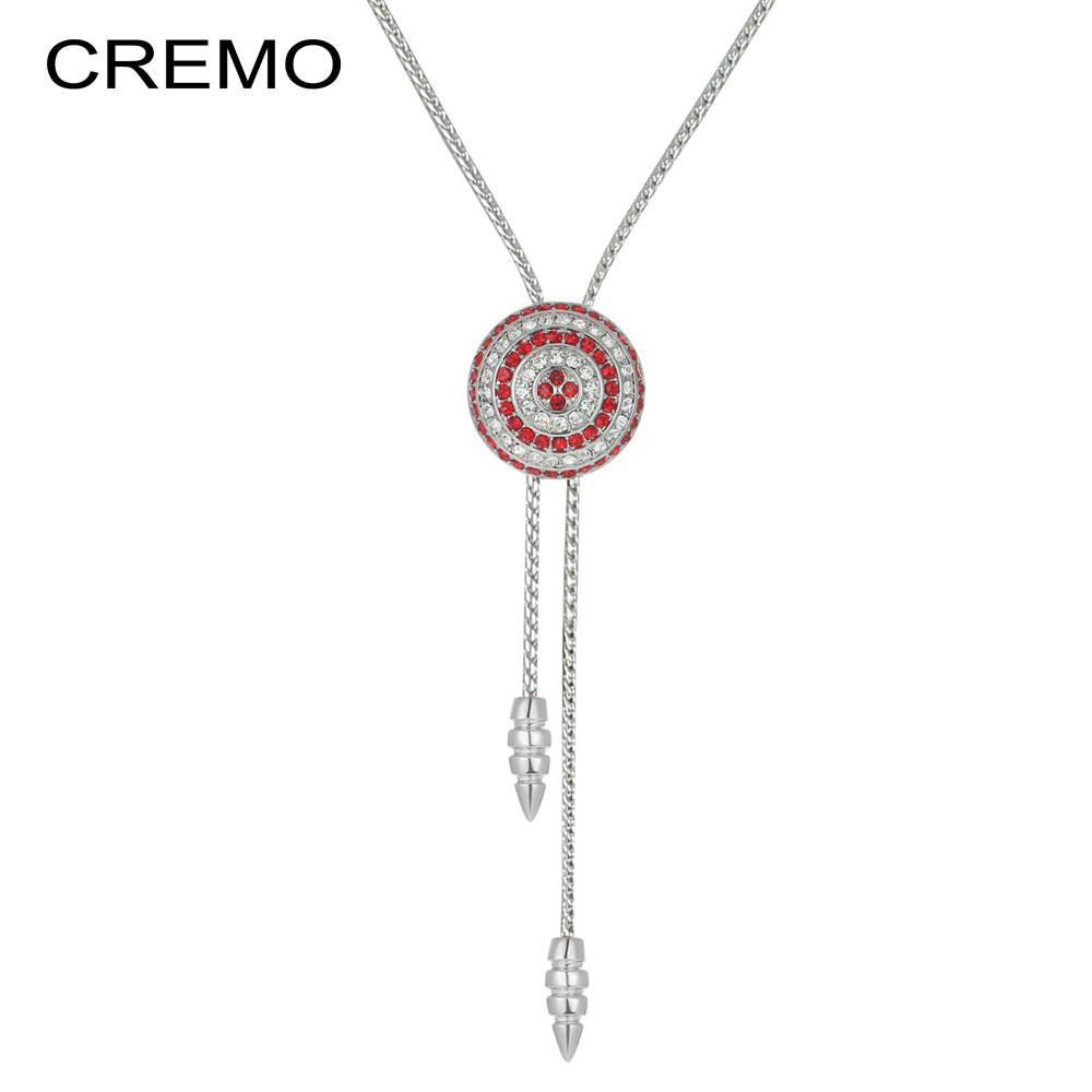 Cremo Long Necklace Slide Jewelry Adjustable Long Chain Necklace Chocker Gift for Women Fashion Jewelry
