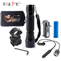 WF-501B Tactical LED Flashlight 2000 Lumens Led Torch  Hunting Light With Gun Mount and Remote Pressure Switch