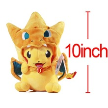 Hot Pokemon Pikachu Charizard hat Plush Soft Toy Stuffed Animal Doll 10 Free Shipping