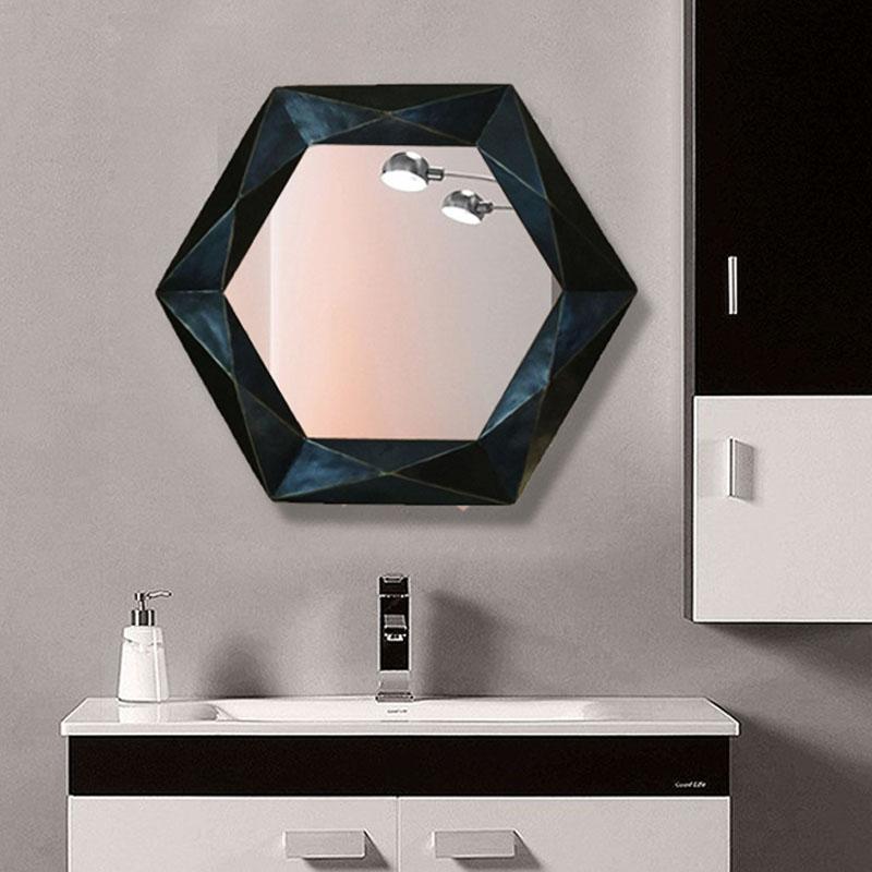 76cmx67cm European Bathroom Mirror Simple Modern Decoration Wall Hanging Dressing Table wash basin bath mirror Bath Mirrors    - AliExpress
