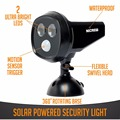 Nicrew Solar Powered Security Spotlights Motion Activated Lights Wireless Outdoor Lamp 300 Lumen for Patio Garden Path Pool Deck