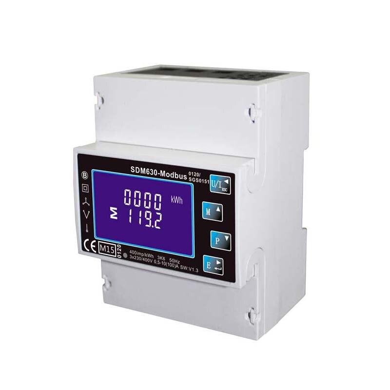 Один/три фазы Multi Функция din-рейку цифровой измеритель энергии, кВтч счетчик электричества с RS485 Modbus Выход SDM630 Modbus