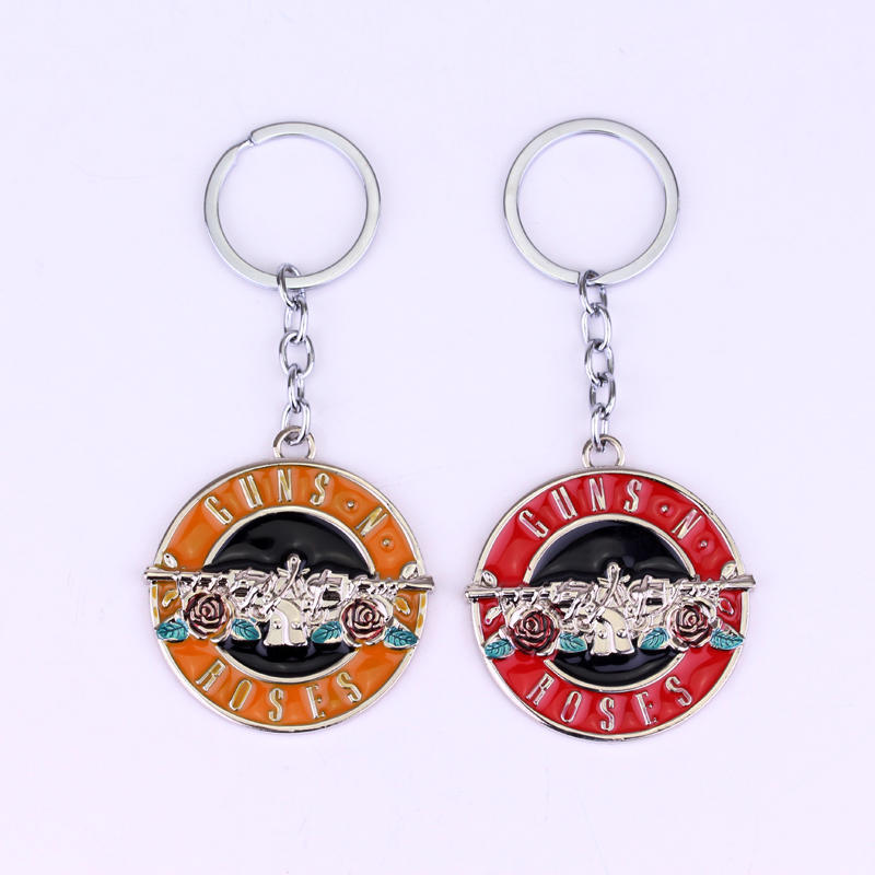Rock Music The Guns N Roses Band Logo Metal keychain Guns N' Roses Music Band Keychain for Men Boys Fans Dropshipping imperia music band 2018 05 24t20 00