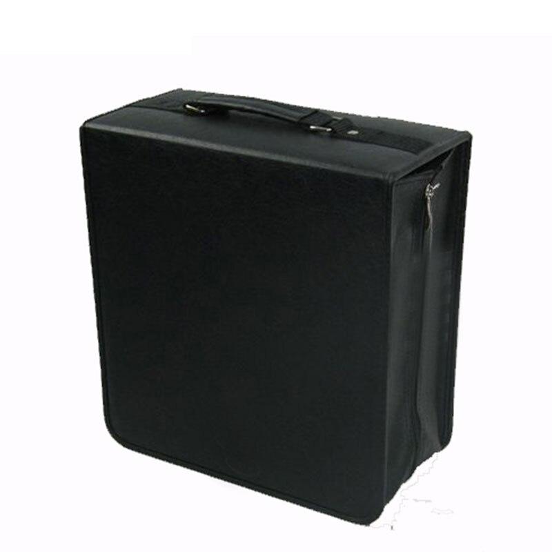 Ymjywl haute capacité en cuir affaires CD boîte épaississement DVD sac de transport housse organisateur pour la maison ou la voiture stockage 400 pièces CD