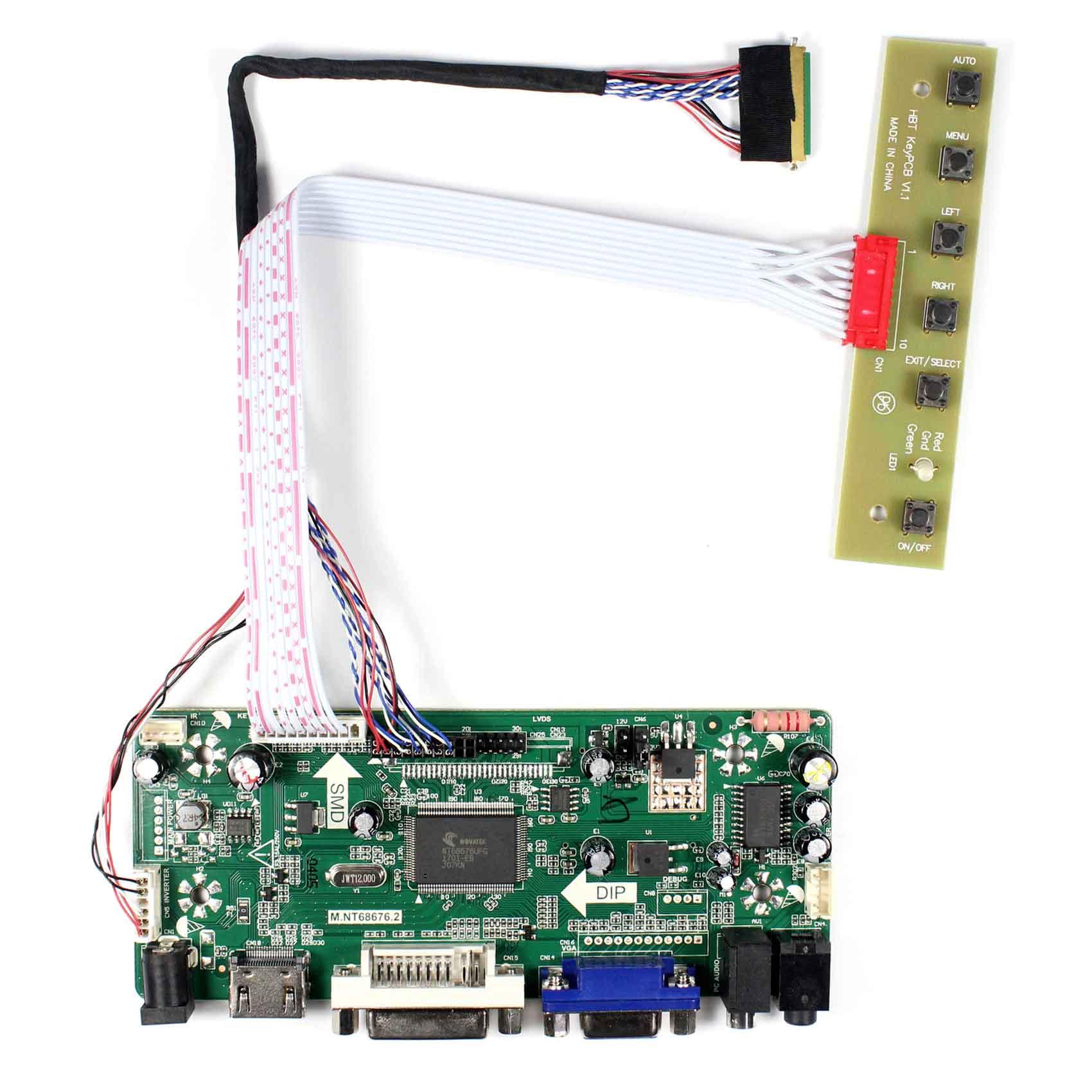 HDMI DVI VGA Audio LCD Controller Board Work for 10.1inch LP101WH2 N101BFE 1024X600 LCD Screen vga hdmi lcd controller board for lp156whu tpb1 lp156whu tpa1 lp156whu tpbh lp156whu tpd1 15 6 inch edp 30 pins 1 lane 1366x768