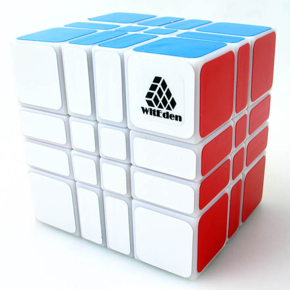 Zhi Li Le Yuan Witeden 4x4x3 White Magic Cubes Puzzle Speed Rubiks Cube Educational Toys Gifts for Kids Children